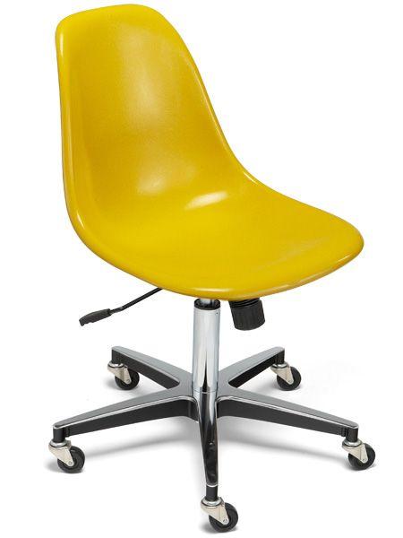 Fiberglass Shell Chair Roller