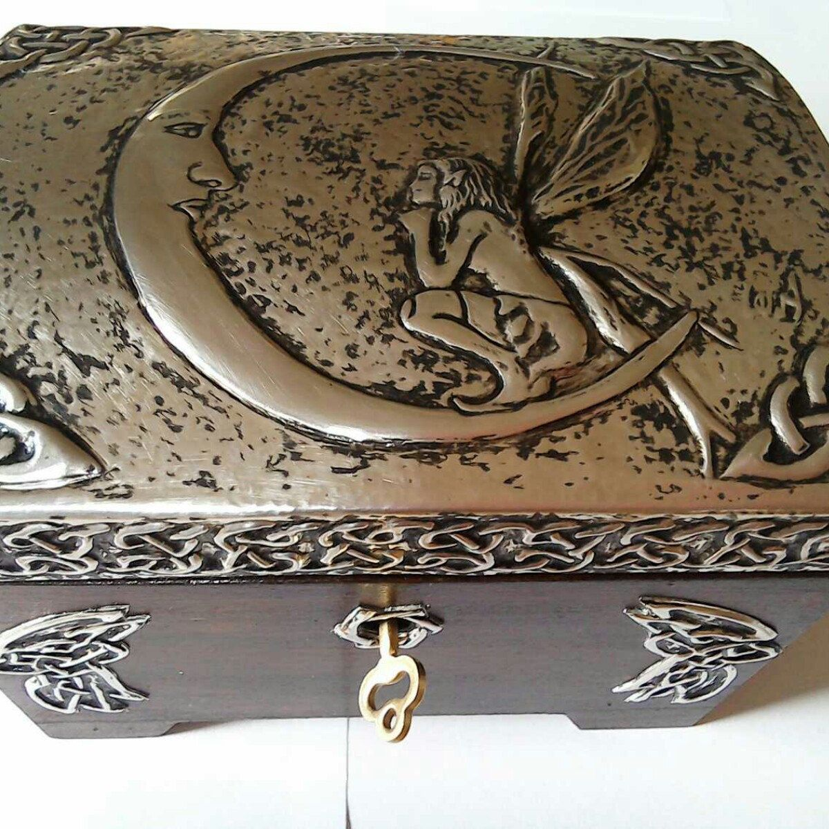Celtic Fairy jewellery box a beautiful and handmade wooden box
