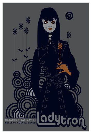 Ladytron band poster print