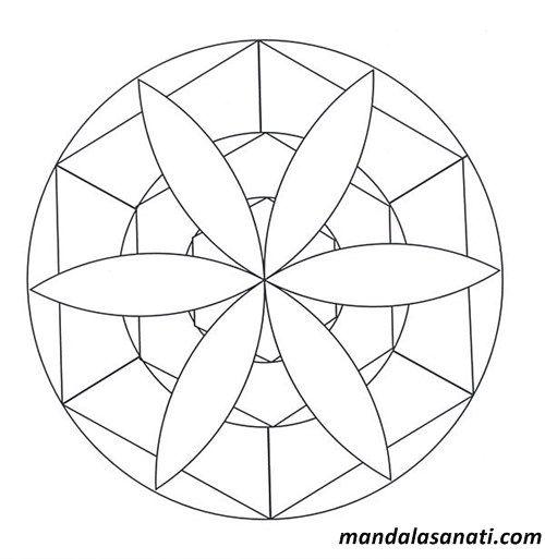 Okul Oncesi Mandala Boyama Sayili Motifler Mandala
