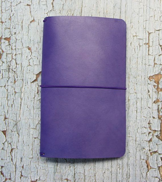 Midori Travelers Notebook - Fauxdori - PURPLE - Field note - field note