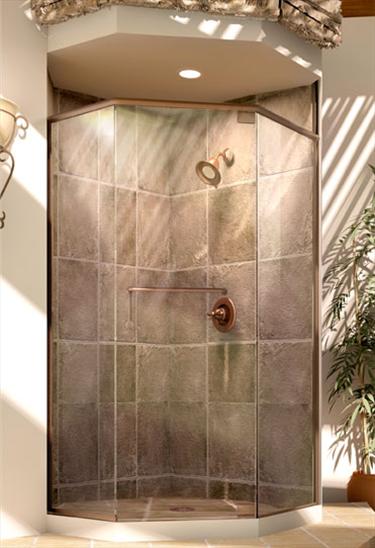 Roda Celesta Headerless Shower Door With Inline Panel For
