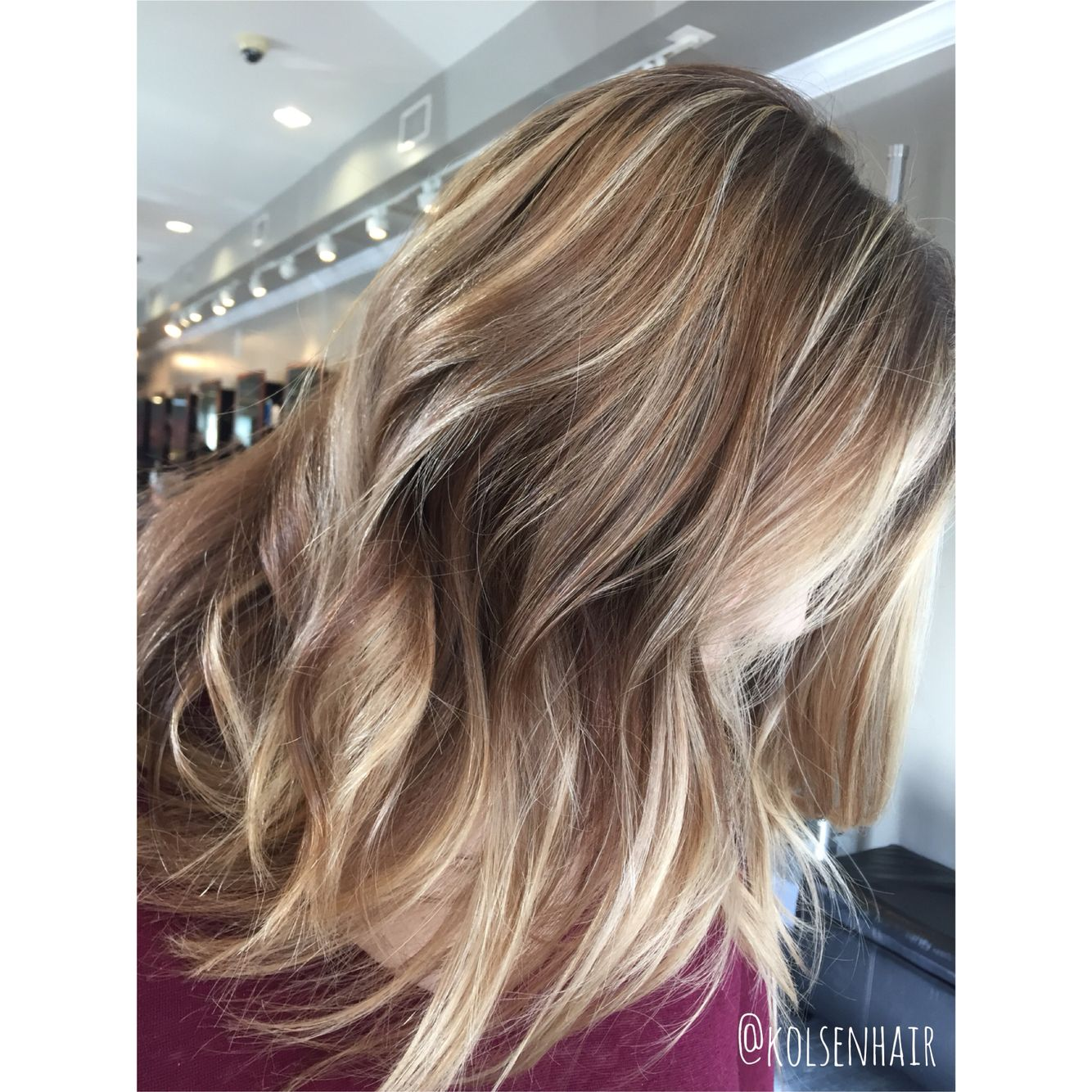 Beautiful balayage highlights with a shadowed root. Perfect fall ...
