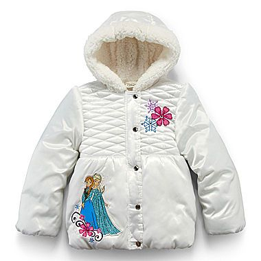 2a2bdb64f jcp | Disney Collection Frozen Hooded Puffer Jacket – Girls 2-10 ...