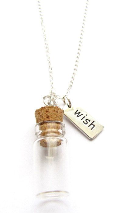 Message In A Bottle Wish Charm Sterling Silver by HeartProjects