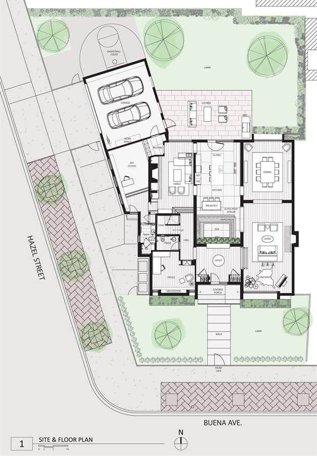 Atrium House Aia Chicago 2014 Small Project Awards Floor Plan Design Atrium House Dream Home Design