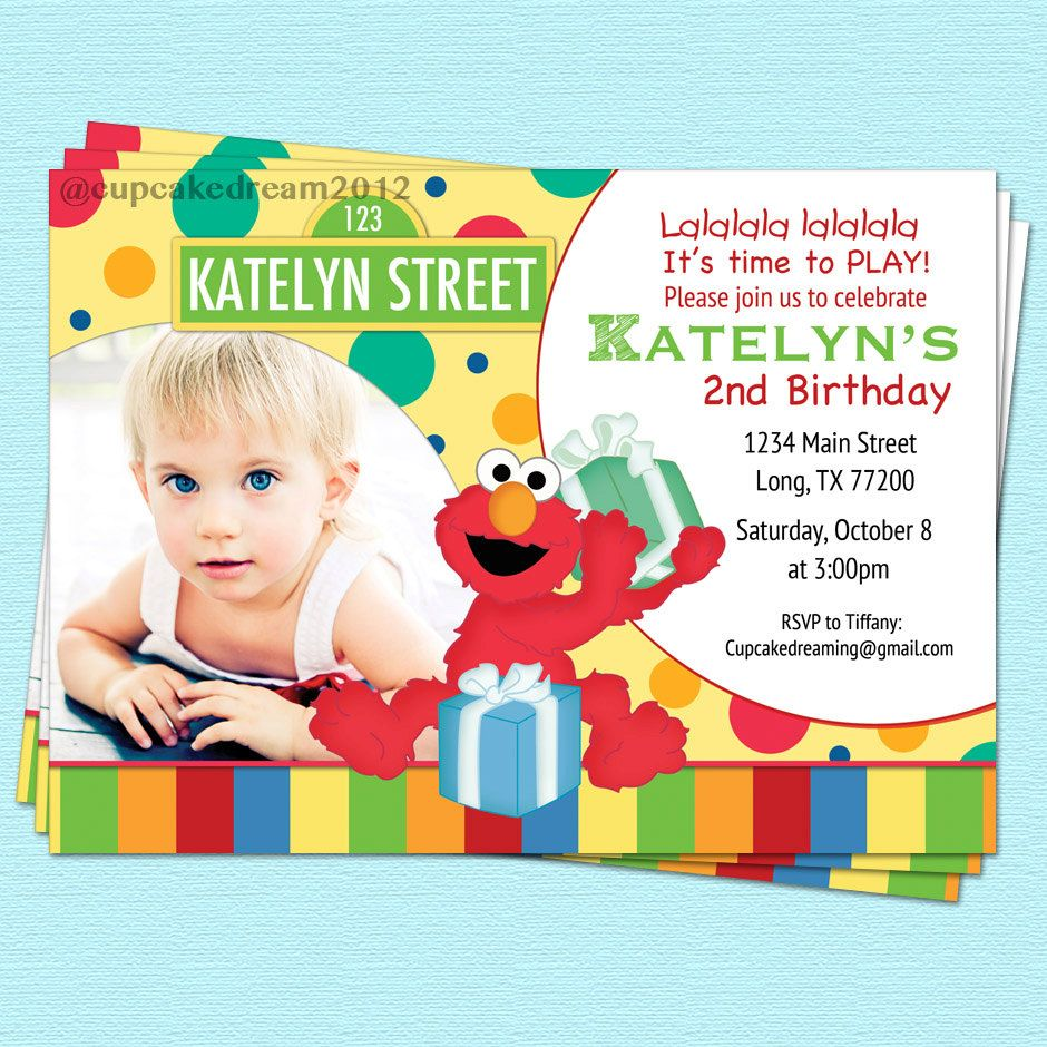 Sesame Street Invitation Elmo Inspired Birthday Printable Party