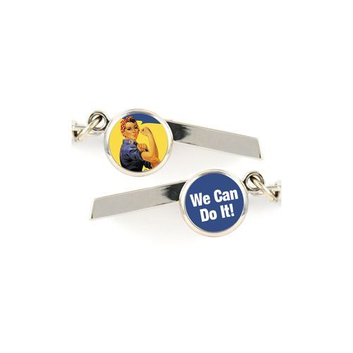 Rosie the Riveter Safety Whistle Keychain