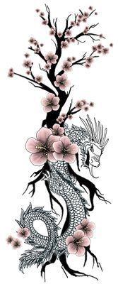14+ Tatouage dragon fleur de cerisier trends