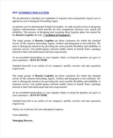 Sample Business Introduction Letter - 14+ Free Documents in PDF - introduction letter