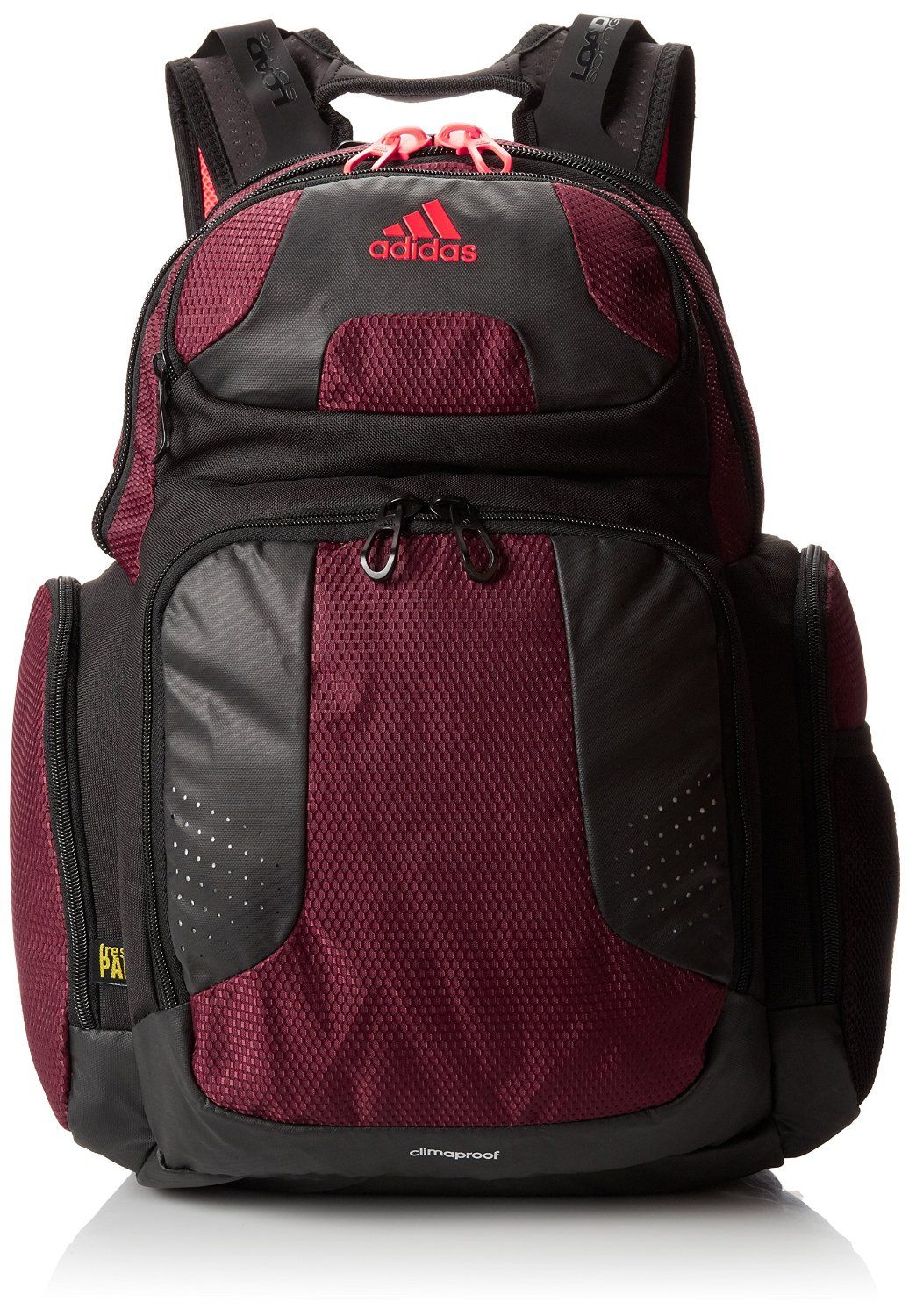 Amazon.com : adidas Climacool Strength Backpack, Dark Red/Solar Red ...