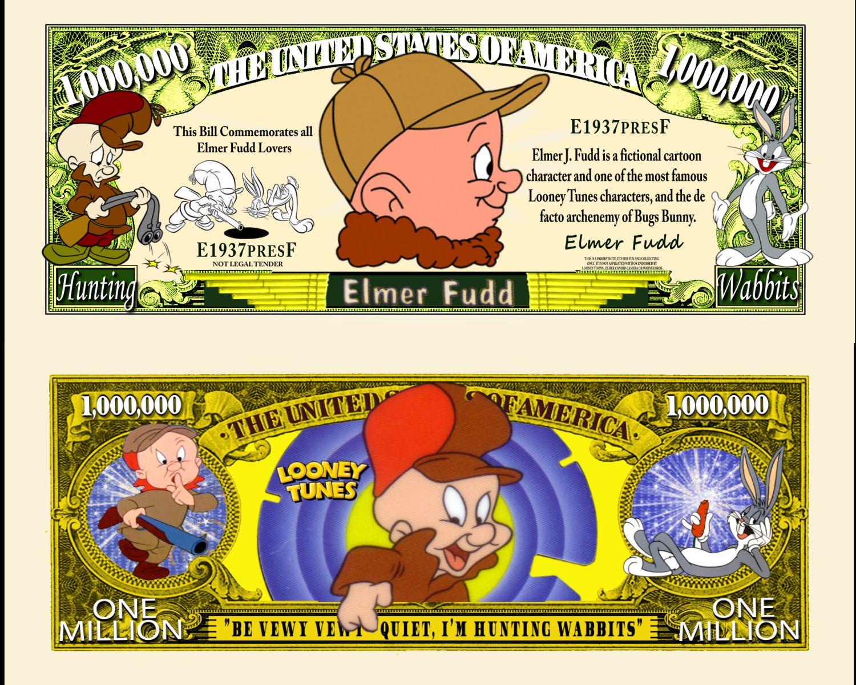 Looney Tunes Character Million Dollar Novelty Money Foghorn Leghorn