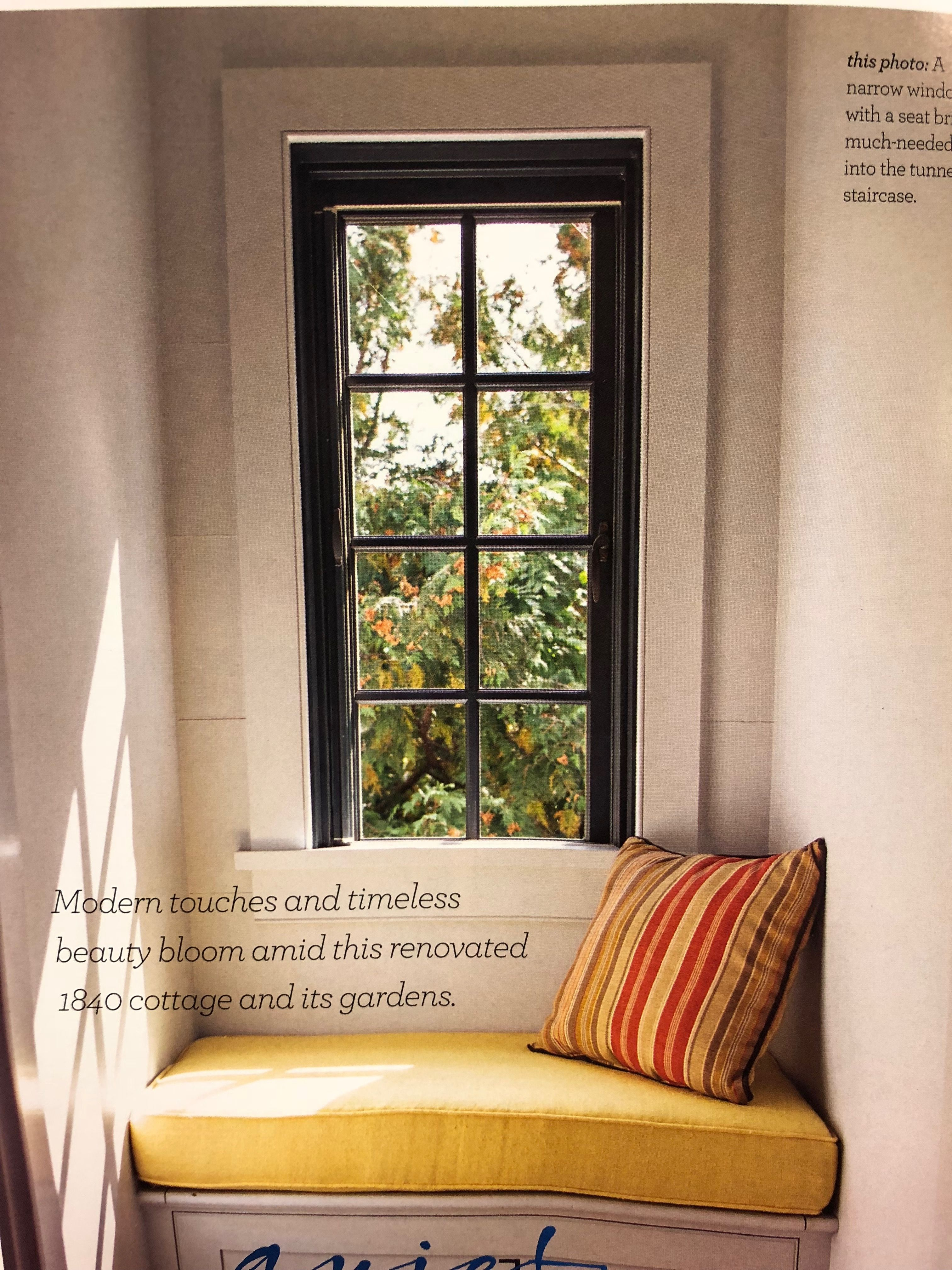 Window trim detail. Window trim, Home decor, Seating