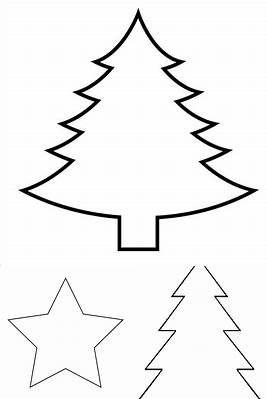 christmas tree stencil printable  bing images  christmas