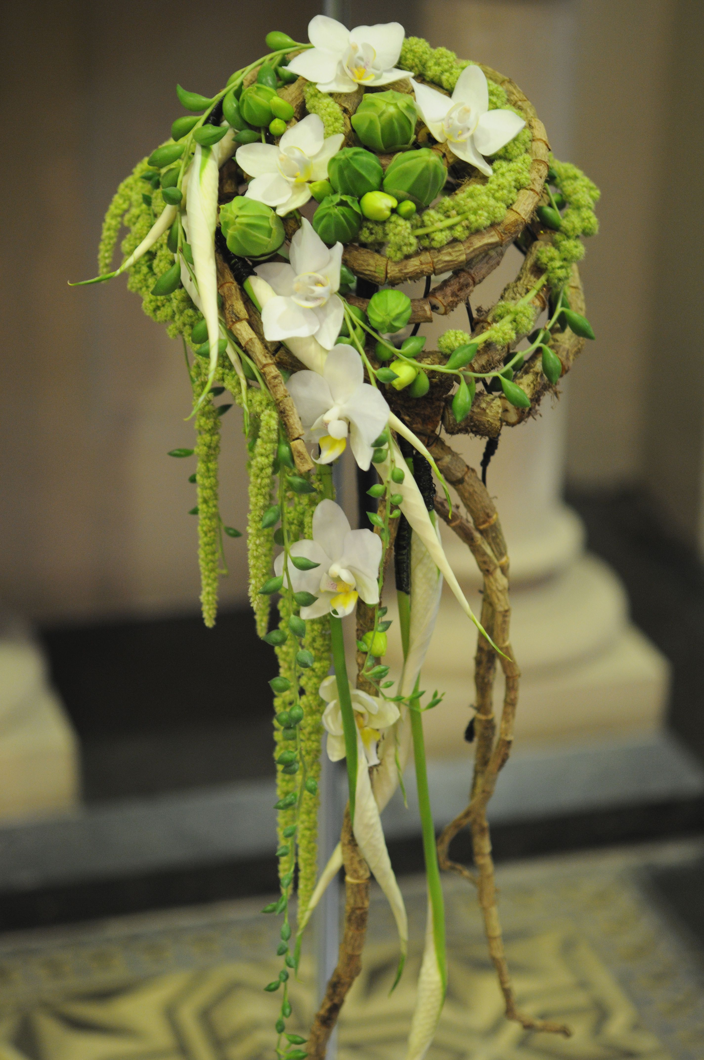 Amazing texture of spathyphyllum spathe orchids string of bananas
