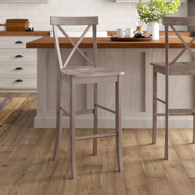 Fortunata Solid Wood Bar Counter Stool In 2020 Counter Stools Stool Wood Bars