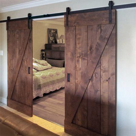 Instructions make a barn style sliding door or fit sliding door kit home dzine home diy diy barn style sliding door planetlyrics Image collections