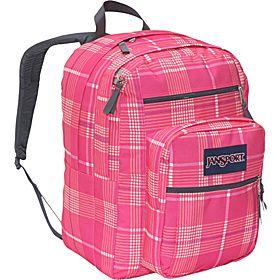 JanSport Big Student Pack - Pink Prep/Vanilla Ice White Reno Plaid - via eBags.com!