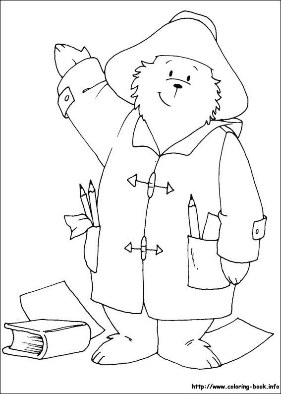 Paddington Bear coloring picture | Kiddos | Pinterest | Imprimibles ...