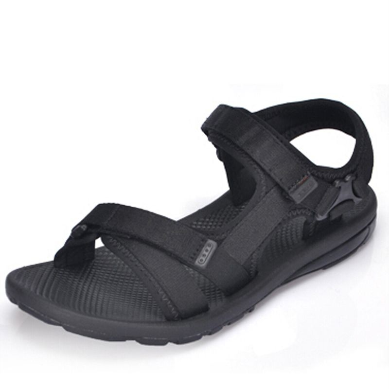 Black Color Women's Sandals 2016 Summer Flat casual Beach Sandals slippers  Women Outdoor Summer sandalias hommer