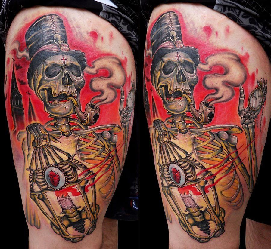 25 Awesome Hand Tattoo Designs: 25 Awesome Skeleton Tattoos