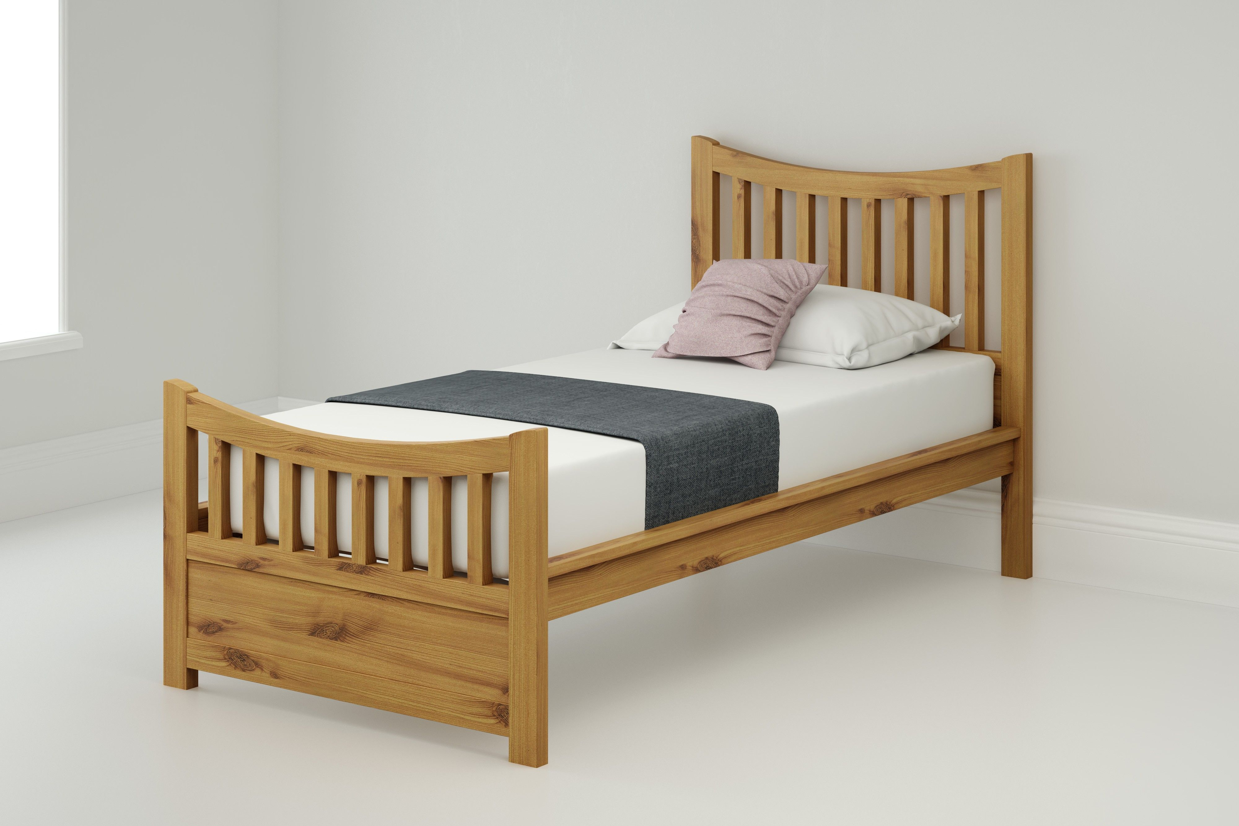 90cm Bedstead Brodie 400 With 2 Drawers Bed Wooden Bed Bed Frame