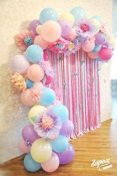 Decoracion diy unicorn party decorations balloon decoration for birthday st girl also mya   th parties rh pinterest