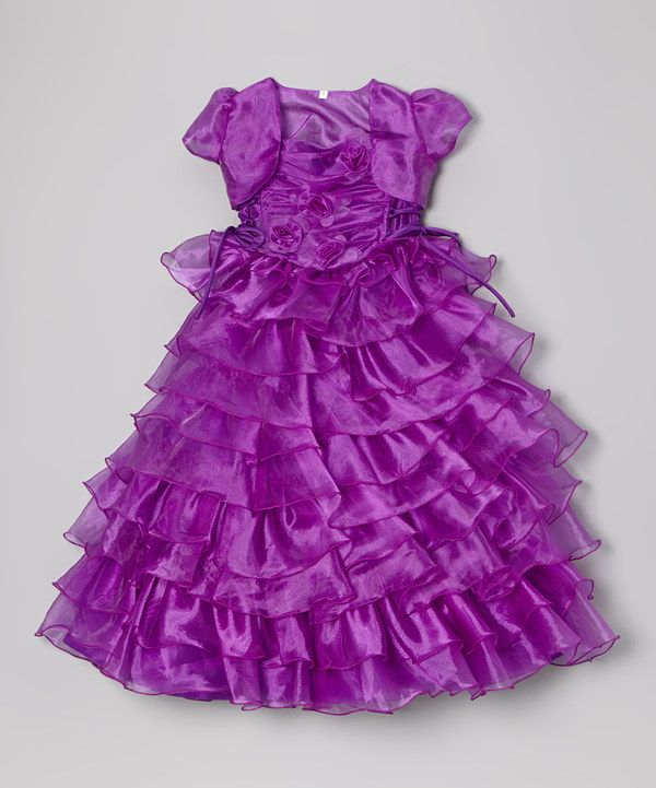 Look at this #zulilyfind! Purple Ruffle Dress & Shrug - Infant, Toddler & Girls by Angels New York #zulilyfinds