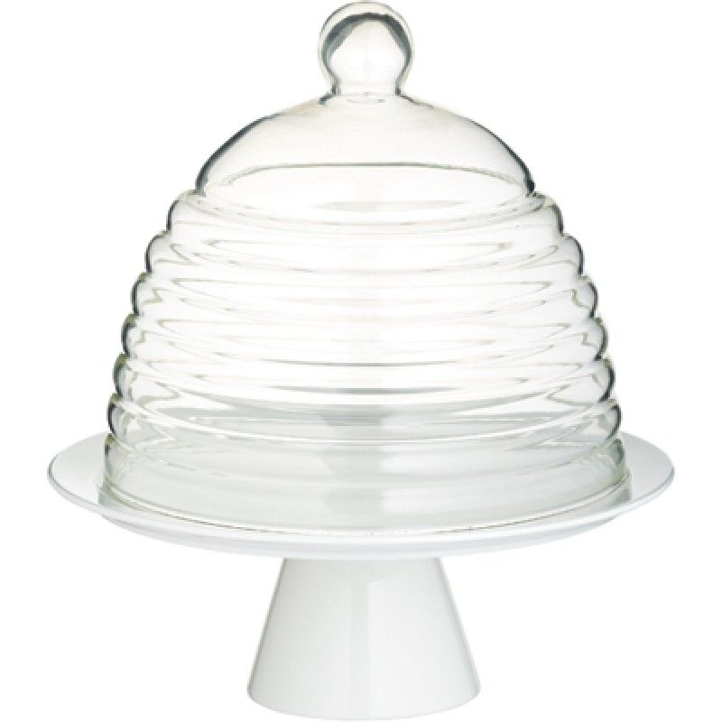 Beehive glass dome cake stand glass dome cake stand