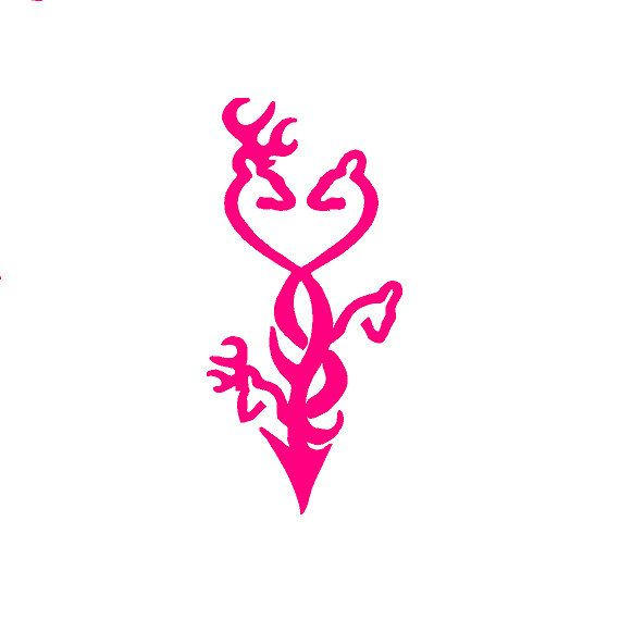 8 Inch Hot Pink Browning Tribal Deer Family Hunting By Cafedecals