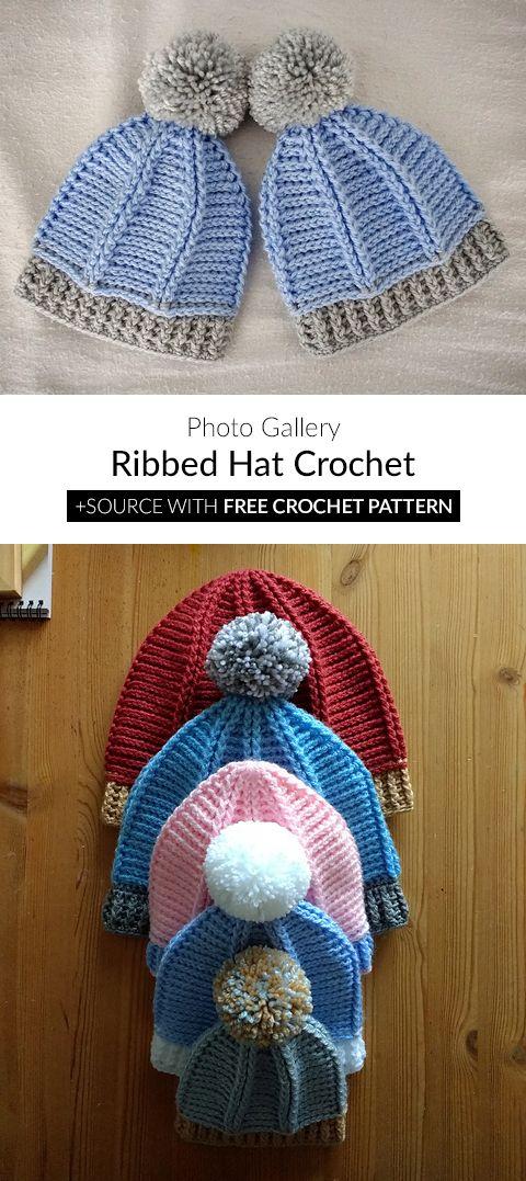 Ribbed Hat Crochet   Gut Behütet   Pinterest   Häkeln und Stricken