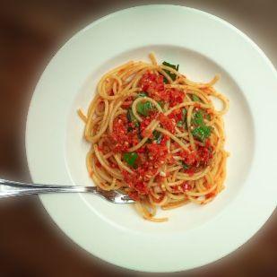 Bucatini with Fiery Chili (Pepper) Pesto