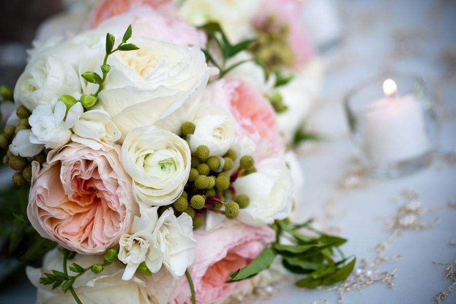 Pink And White Peony Rose Bouquet