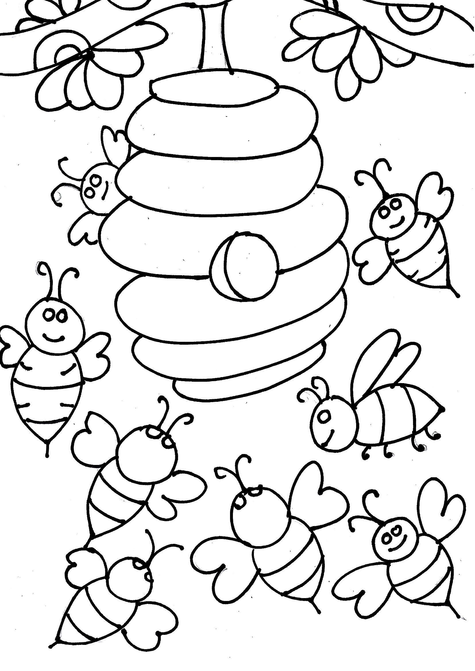 пчелы улей картинки разукрашки летиция появилась публике