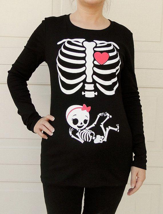 6ff391597db Halloween Skeleton Shirt Halloween Costume par CutsieTootsieApparel ...