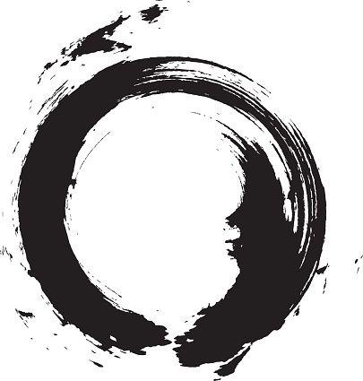 Enso Circular Brush Stroke Japanese Zen Circle Calligraphy N 6