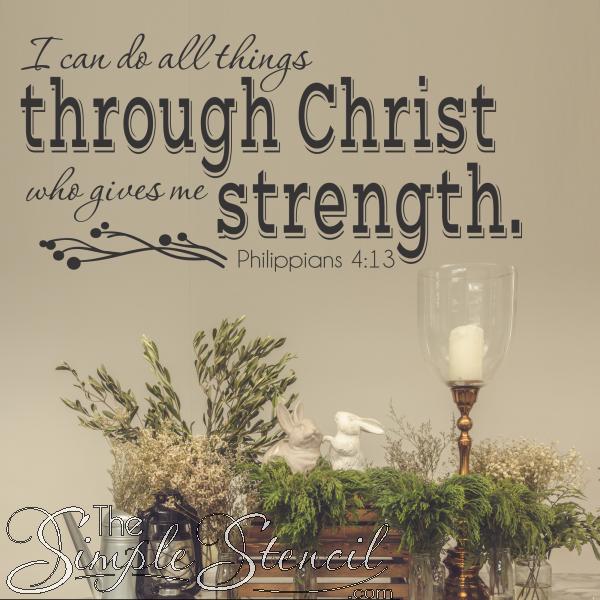 I Can Do All Things Through Christ Philippians 4 13 Niv Wall