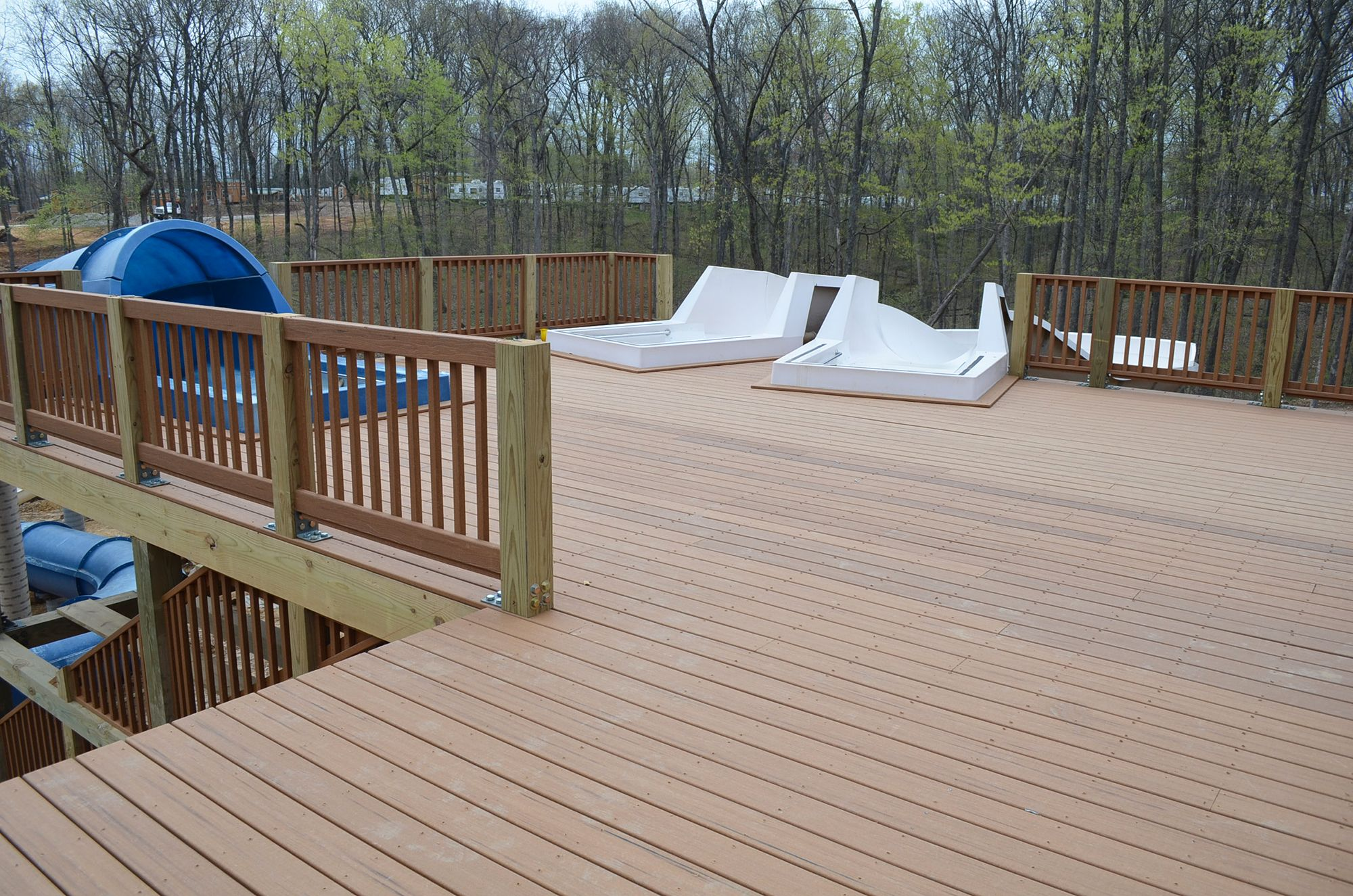 Privacy Fence Of Wpc Deck Material Fire Rated Outdoor Wooden Decking Anti Corrosive