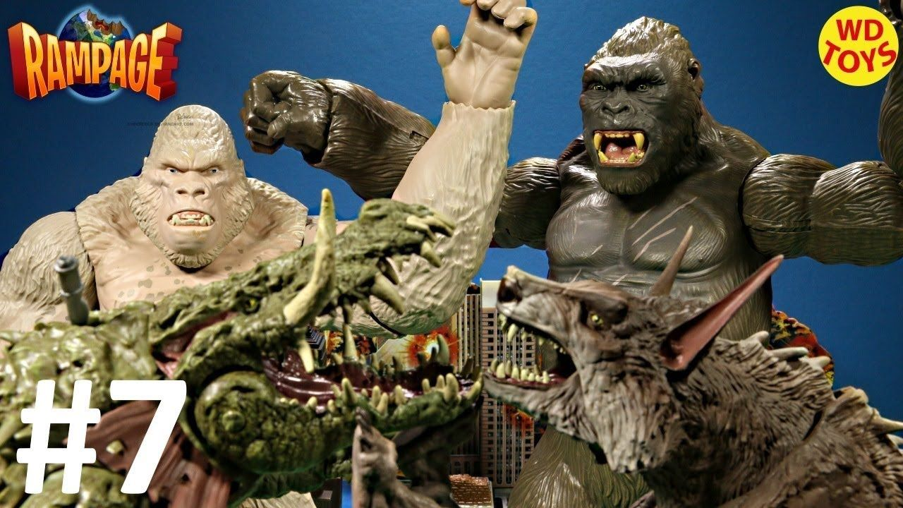 New Rampage The Movie Mega George Figure King Kong Vs Subject George Bat King Kong Jurassic World Indominus Rex Avengers Superheroes