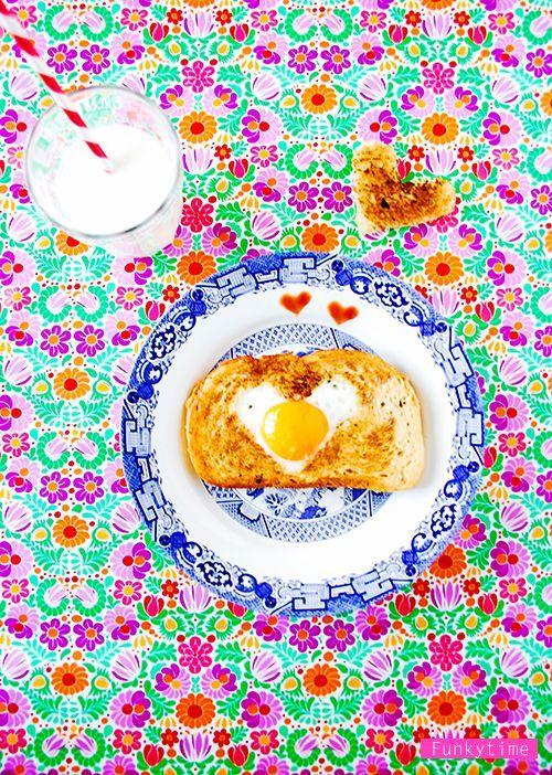 colourful breakfast.