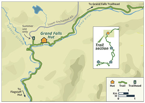 maine huts and trails map Grand Falls Grand Falls Grands Enchanted River maine huts and trails map