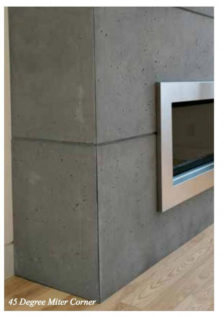 Concrete Lightweight Cladding For Fireplace Pergolafireplace Concrete Fireplace Slate Fireplace Cladding