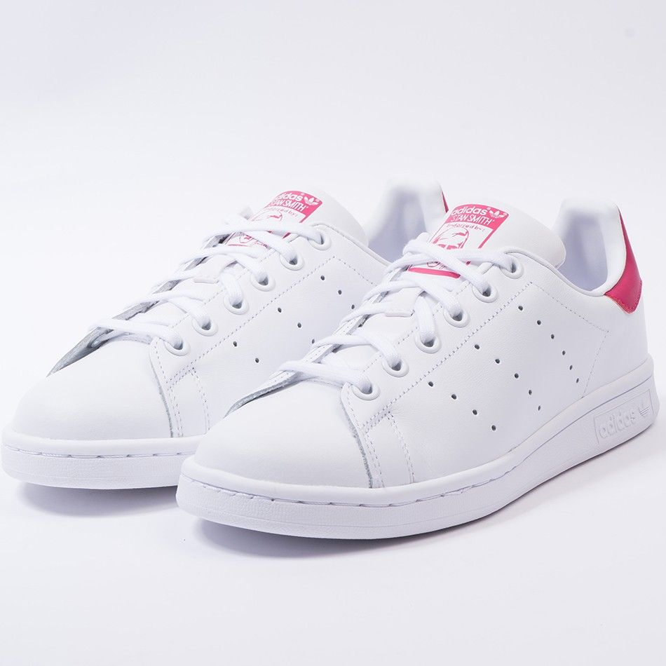 Adidas stan smith (white/white/pink) | Adidas stan smith ...