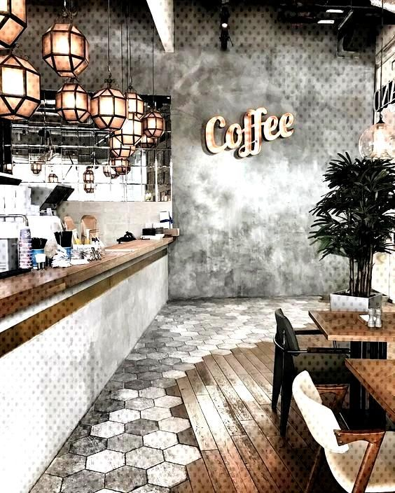 Go for a retro glam bar area complete with luxury hanging pendants, LED lighting and concrete-wall