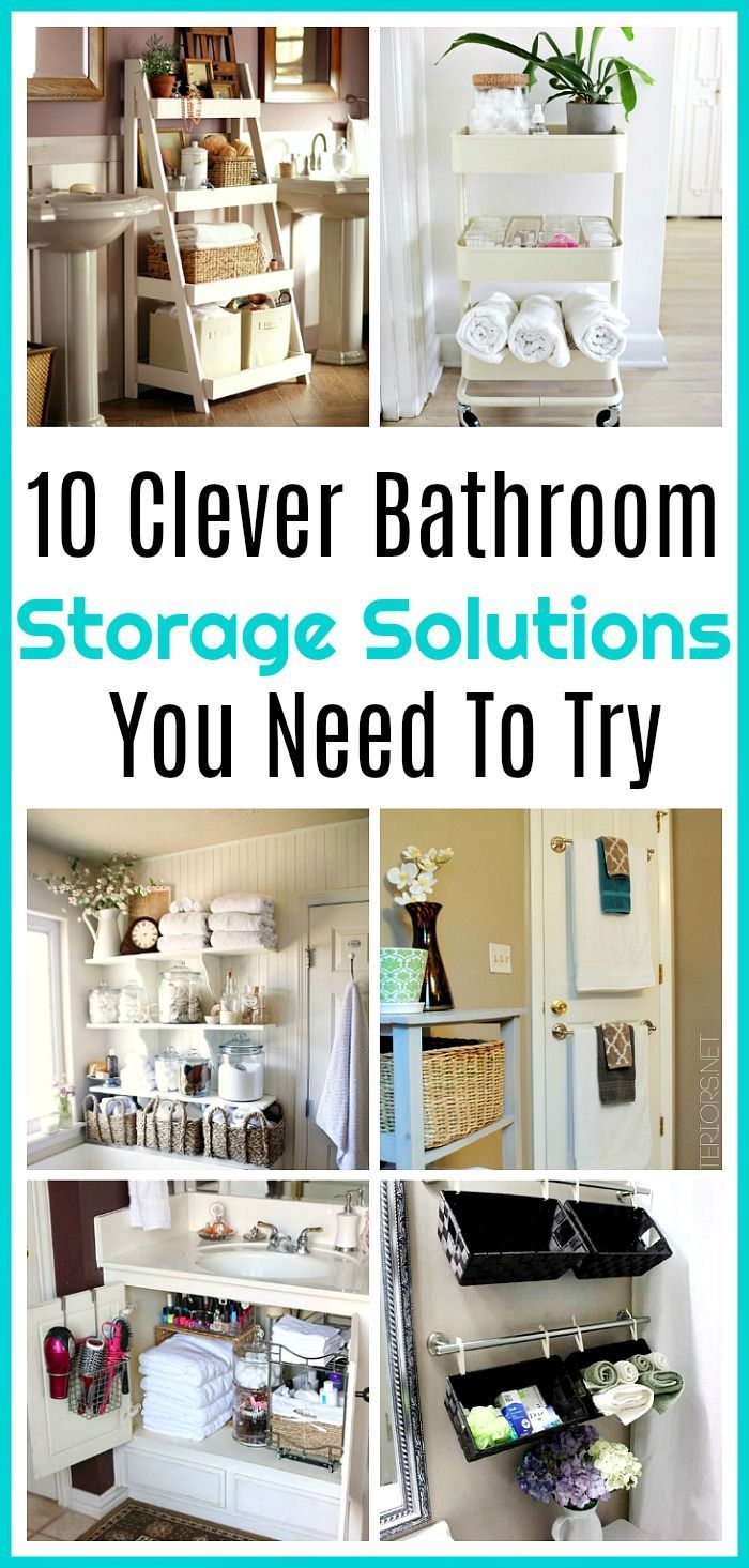 Bathroom Storage Solutions - 10 Clever Ideas You Need To Try