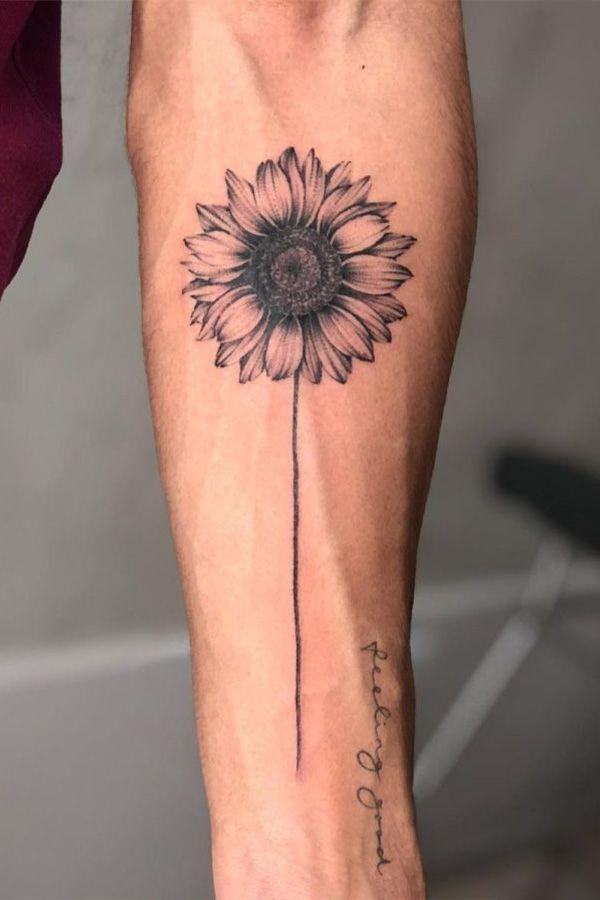 Photo of Einfache Sonnenblume Tattoo Designs, um Ihre Lieblingsblume auf Ihrer Haut zu tragen