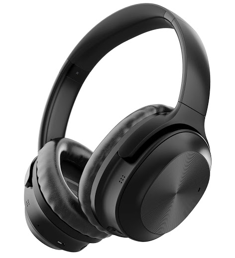 Active Noise Cancelling Headphones Letscom Bluetooth Headphones With Mic Deep Bass Wireless Headphones Over Ear 25h Playtime Soft Protein Earpads F
