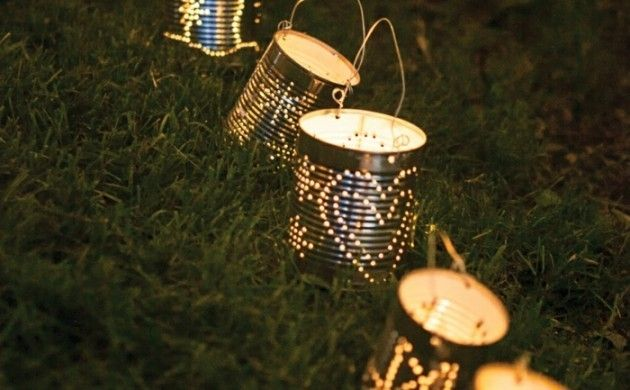 Laternen aus blechdosen 19 romantische bastelideen for Romantische gartendeko
