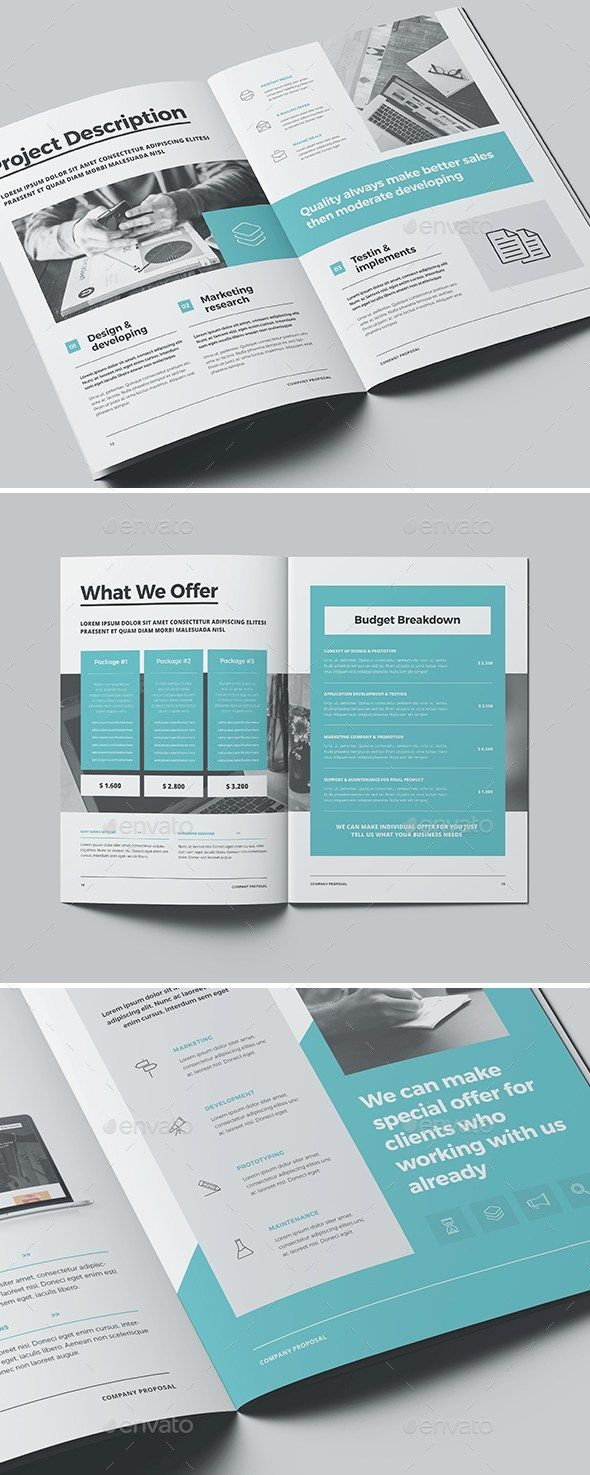 24 Pages Professional Business Proposal Template (Indesign) #proposal  #brochure #template #indesign | Art Sauce | Pinterest | Proposal Templates,