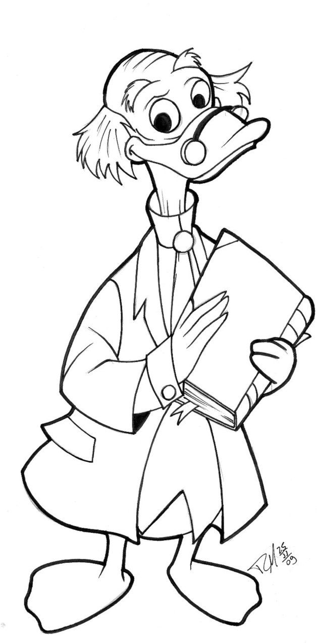 Professor Ludwig Von Drake Coloring Pages Coloring Pages Disney